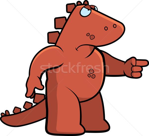 Boos dinosaurus cartoon mad Stockfoto © cthoman