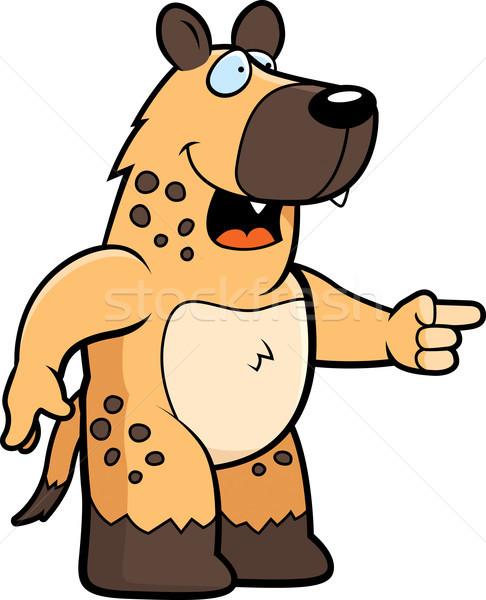 Hyäne lachen glücklich Karikatur Hinweis Stock foto © cthoman