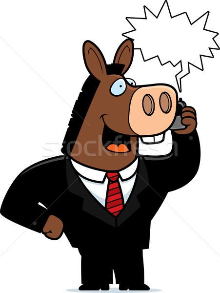 Donkey Phone Stock photo © cthoman
