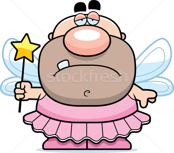 Cartoon Sad Tooth Fairy Stock photo © cthoman