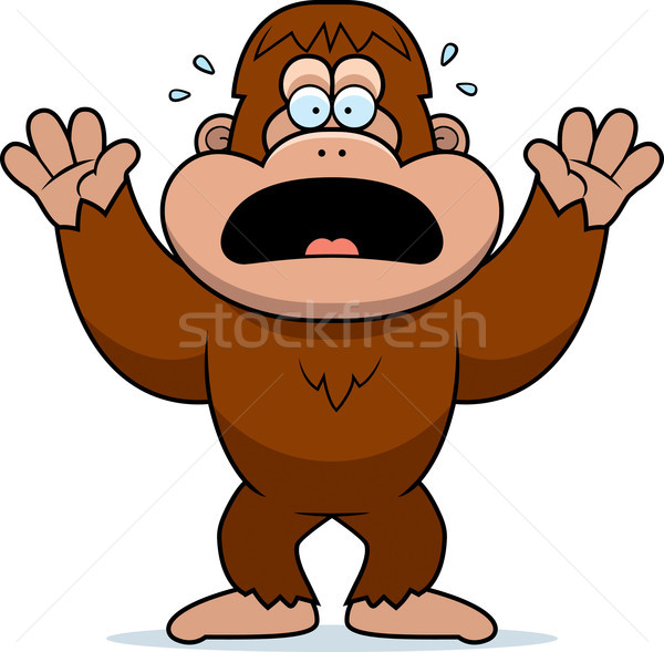 Cartoon Bigfoot Panicking Stock photo © cthoman