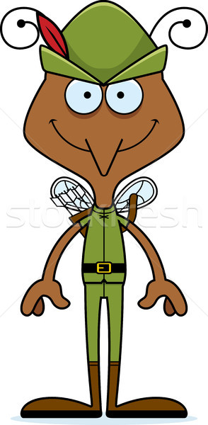 Cartoon sorridere zanzara Hat animale Foto d'archivio © cthoman