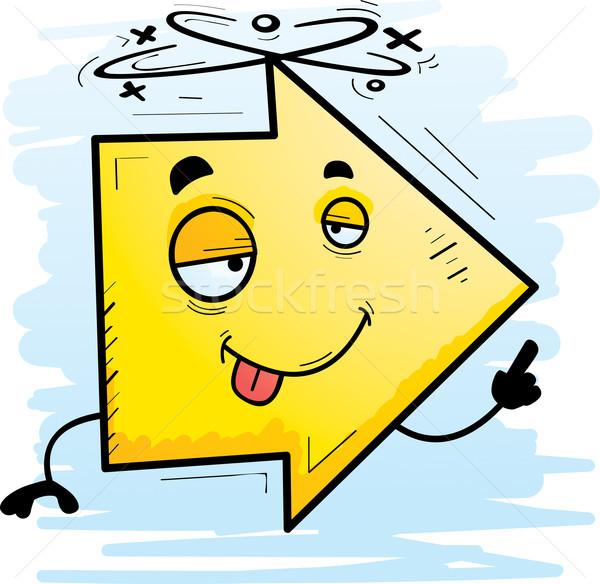 пьяный Cartoon стрелка иллюстрация глядя Сток-фото © cthoman