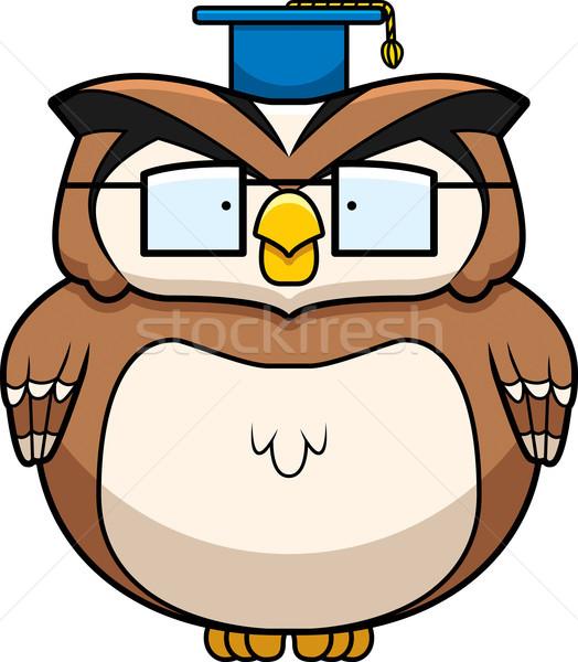 профессор совы Cartoon очки Постоянный Smart Сток-фото © cthoman