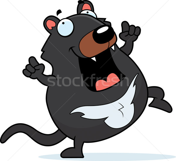 Cartoon Tasmanian Devil Dancing Stock photo © cthoman