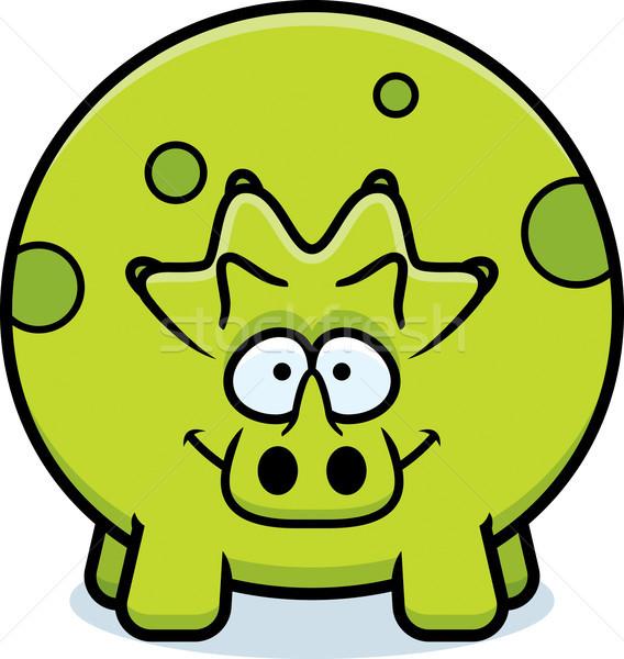 Happy Cartoon Triceratops Stock photo © cthoman
