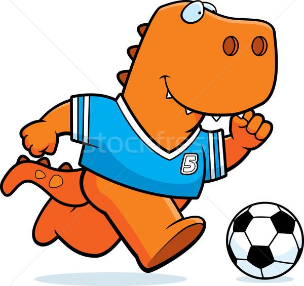 Karikatur Fußball Illustration spielen läuft Team Stock foto © cthoman