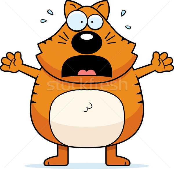 Cartoon Cat Panicking Stock photo © cthoman