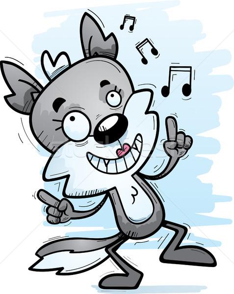 Cartoon женщины волка танцы иллюстрация собака Сток-фото © cthoman