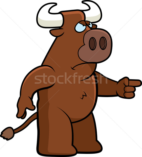Angry Bull Stock photo © cthoman