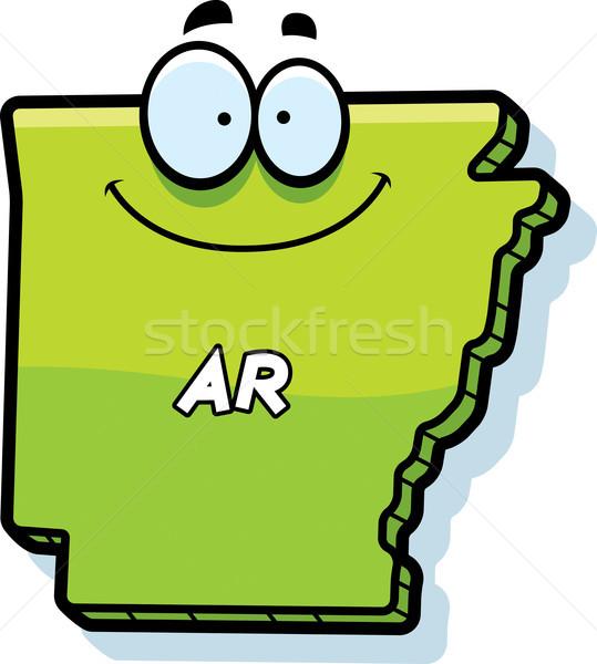 Cartoon Arkansas illustratie glimlachend grafische amerika Stockfoto © cthoman
