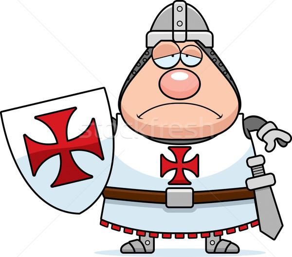 Sad Cartoon Templar Stock photo © cthoman