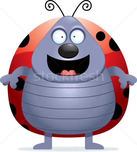 Uğur böceği gülen mutlu karikatür ayakta Stok fotoğraf © cthoman