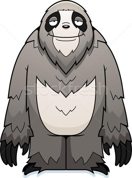 Cartoon Sloth Smiling Stock photo © cthoman
