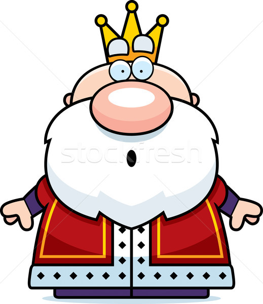 Cartoon Surprised King Stock photo © cthoman