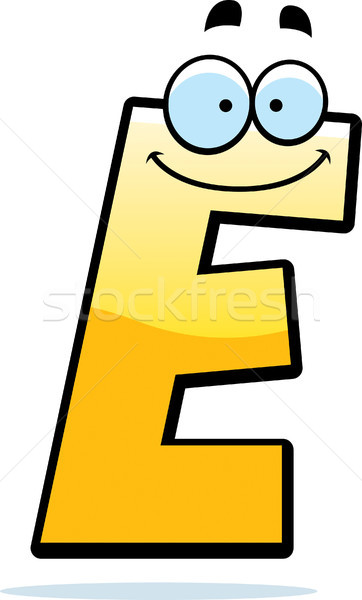 Cartoon Letter E Stock photo © cthoman