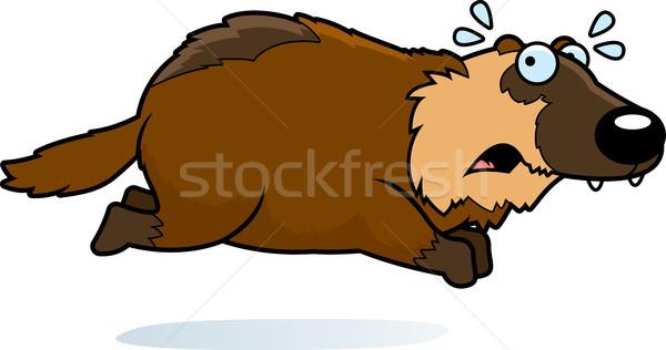 Cartoon lopen weg illustratie dier grafische Stockfoto © cthoman