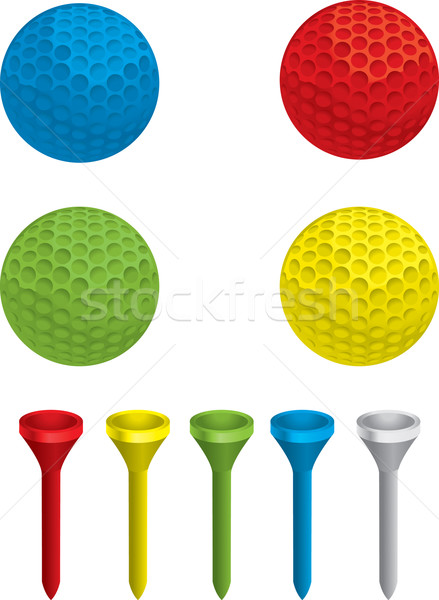 Golf variëteit verschillend gekleurd sport Stockfoto © cthoman