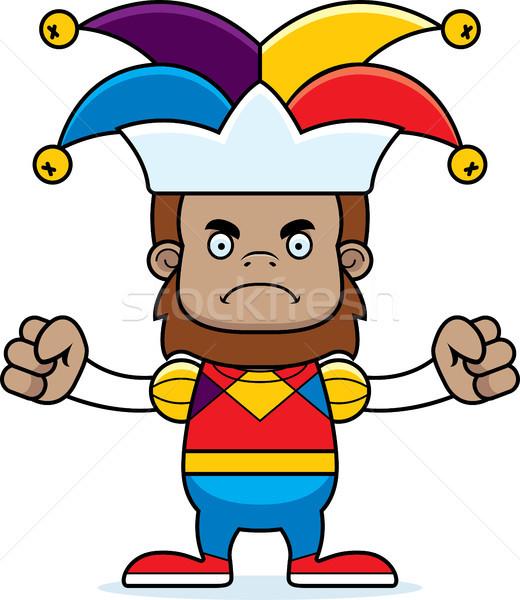 Cartoon Angry Jester Sasquatch Stock photo © cthoman