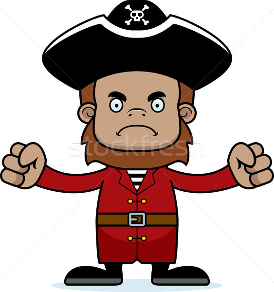 Cartoon Angry Pirate Sasquatch Stock photo © cthoman