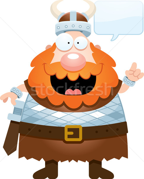 Cartoon Viking Talking Stock photo © cthoman