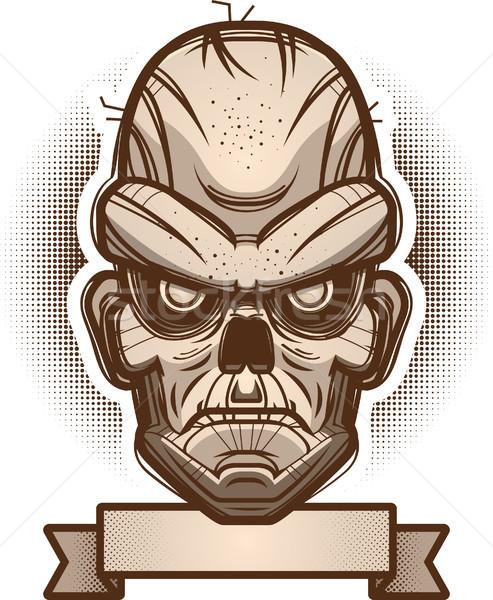 Zombi banner ilustración gráfico enojado miedo Foto stock © cthoman