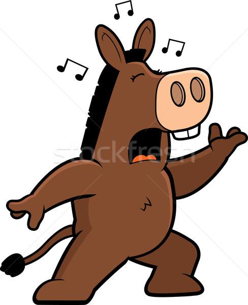 âne chanter cartoon permanent chanson musique Photo stock © cthoman