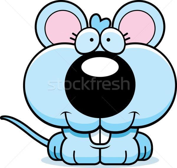 Karikatür fare gülen mutlu hayvan grafik Stok fotoğraf © cthoman