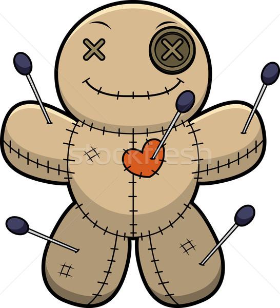 Happy Cartoon Voodoo Doll Stock photo © cthoman