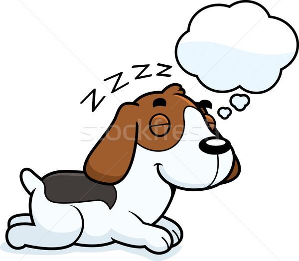Cartoon Beagle Dreaming Stock photo © cthoman