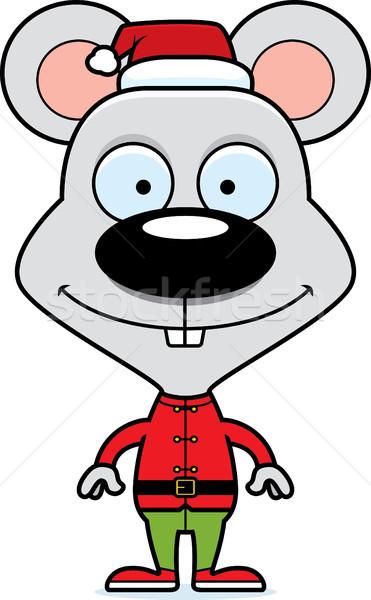 Desenho animado sorridente elfo mouse feliz Foto stock © cthoman