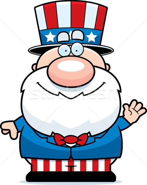 Cartoon патриот иллюстрация патриотический человека Сток-фото © cthoman