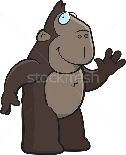 Ape Waving Stock photo © cthoman