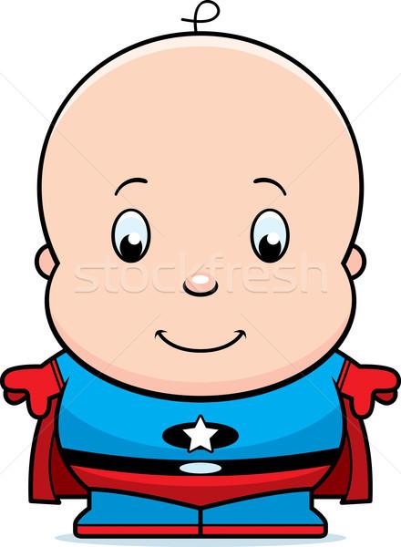Cartoon Baby Superhero Stock photo © cthoman