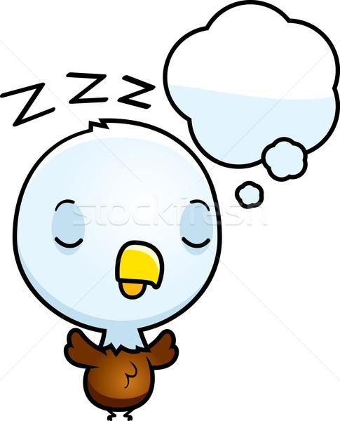 Cartoon baby kaal adelaar illustratie Stockfoto © cthoman
