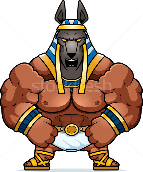 Cartoon Anubis Mad Stock photo © cthoman