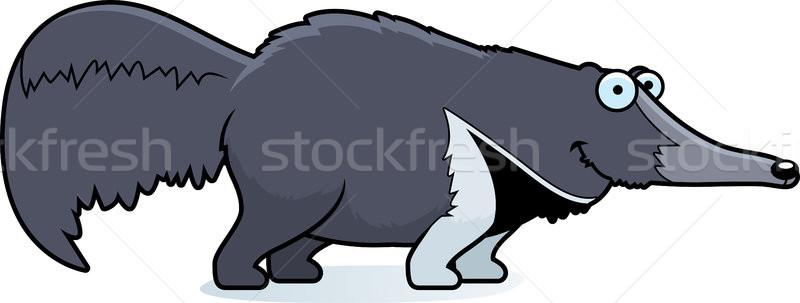 Karikatür gülen örnek ayakta mutlu hayvan Stok fotoğraf © cthoman