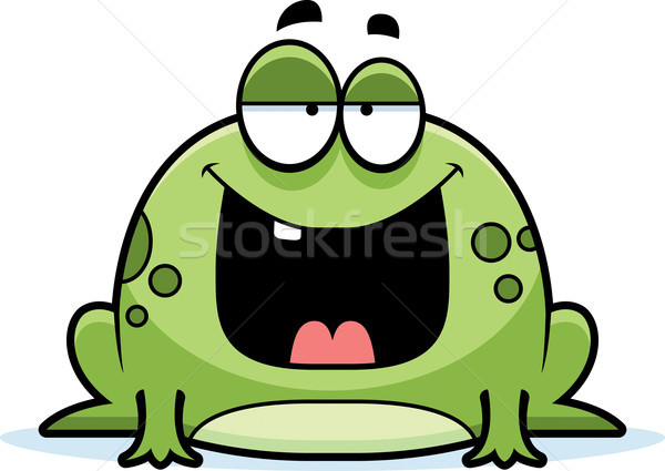Cartoon Frog Smiling Stock photo © cthoman