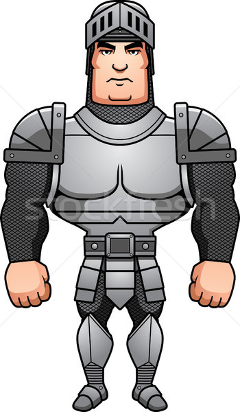 Cartoon Knight Standing Stock photo © cthoman
