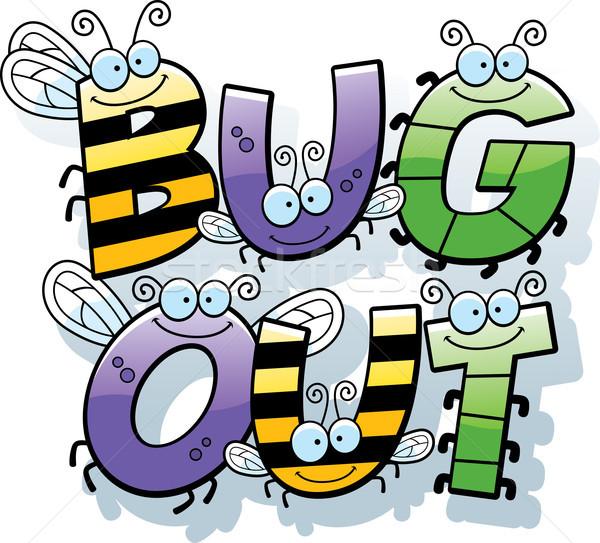 Cartoon Bug Out Text Stock photo © cthoman