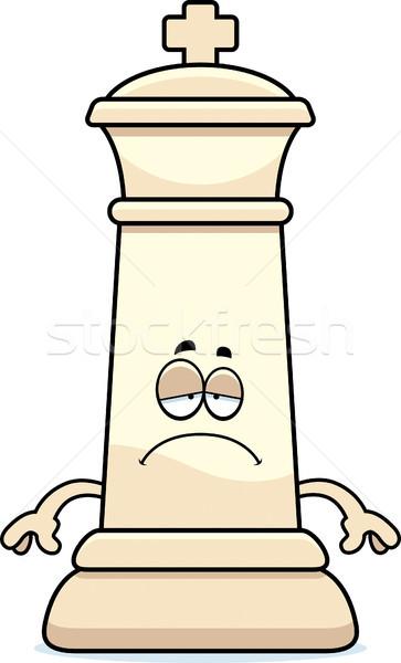 Triste Cartoon rey del ajedrez ilustración rey Foto stock © cthoman