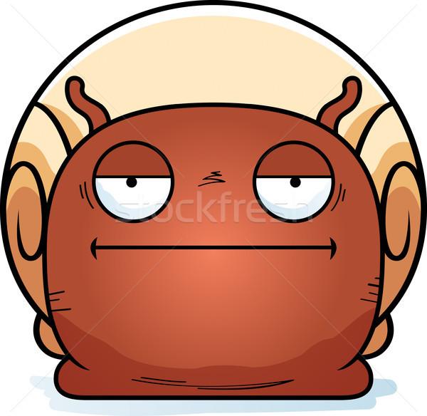 Aburrido pequeño caracol Cartoon ilustración mirando Foto stock © cthoman