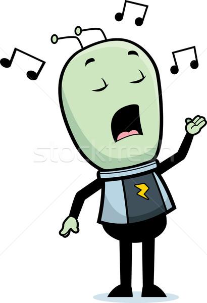Alien Singing Stock photo © cthoman