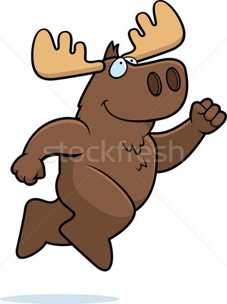 Moose Jumping Stock photo © cthoman