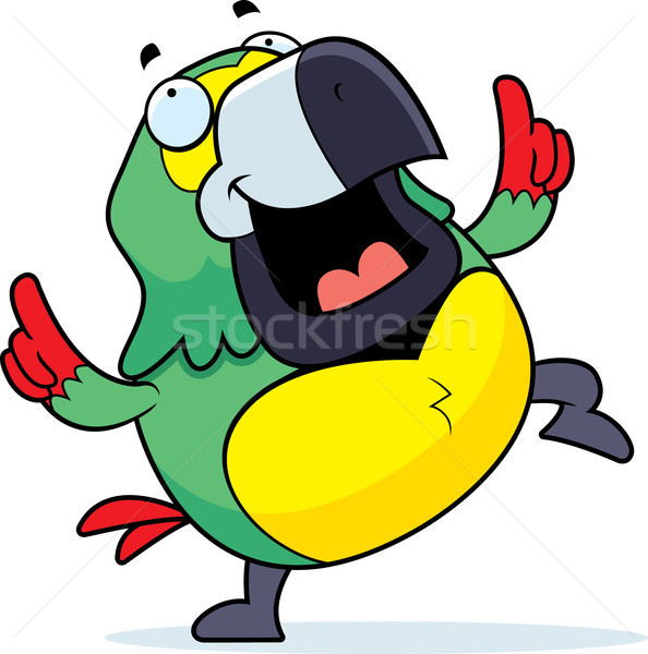 Parrot Dancing Stock photo © cthoman