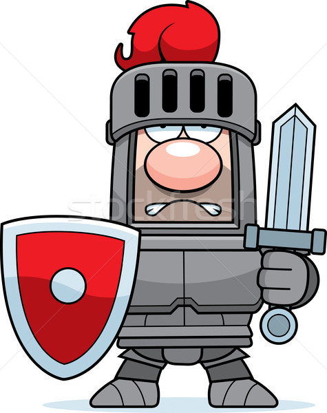 Cartoon Knight in Armor Stock photo © cthoman