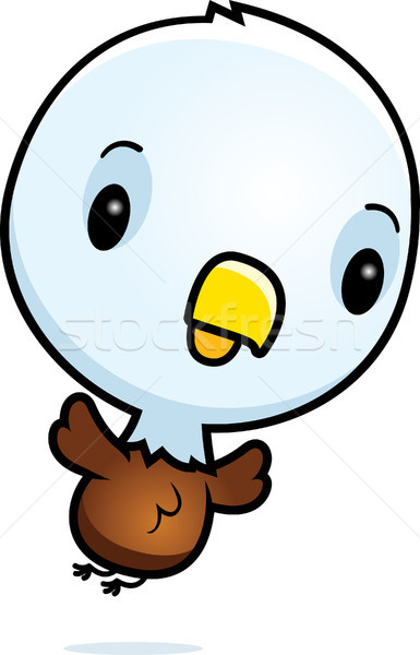 Cartoon Baby Eagle Flying Stock photo © cthoman