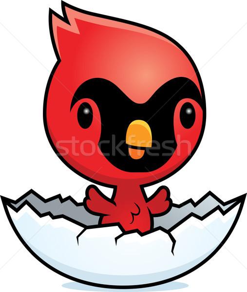 Cartoon Cardinal Egg Stock photo © cthoman