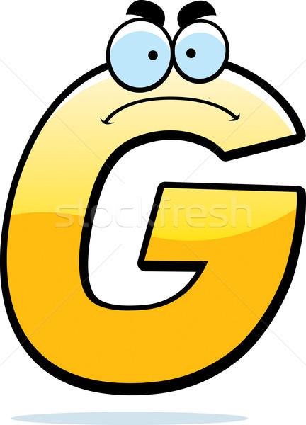 Mérges rajz g betű illusztráció levél arany Stock fotó © cthoman