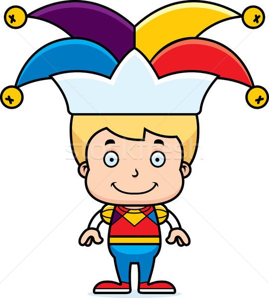 Cartoon Smiling Jester Boy Stock photo © cthoman
